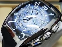 Обзор реплики мужских швейцарских часов Franck Muller Mariner Chronograph Black Blue
