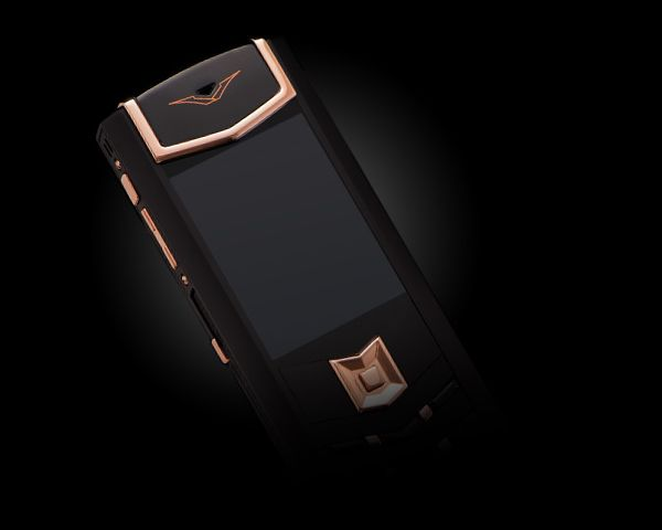 Смартфон Vertu  Signature S Design DLC Red Gold Black Leather