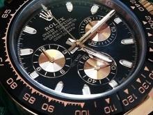 Обзор реплики мужских часов Rolex Cosmograph Daytona 40mm Everose Gold