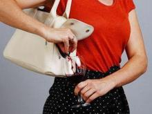 Женская сумка со скрытой ёмкостью для вина