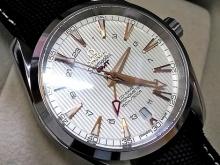 Обзор реплики мужских швейцарских часов OMEGA SEAMASTER AQUA TERRA 150M CO AXIAL GMT 43mm