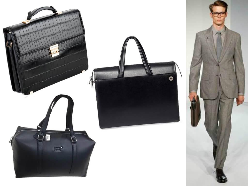 Мужские кожаные сумки Монблан