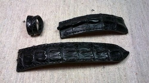 Ремешки для часов из натуральной кожи крокодила, ручная работа