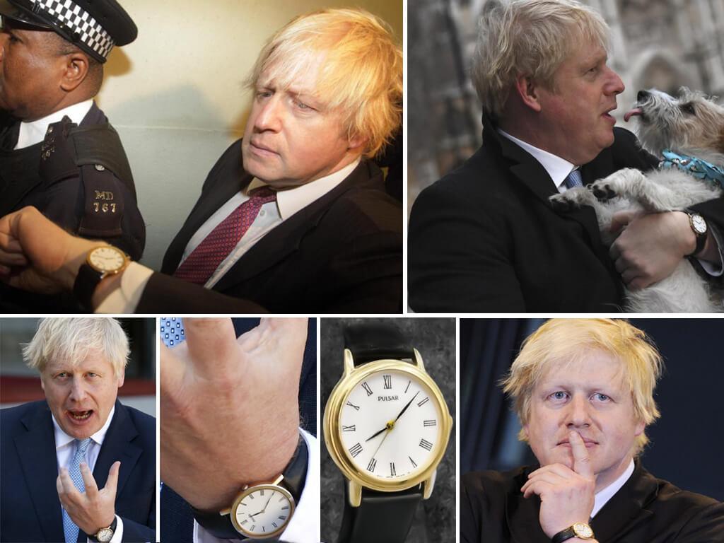 Британский премьер-министр Борис Джонсон в часах Пульсар