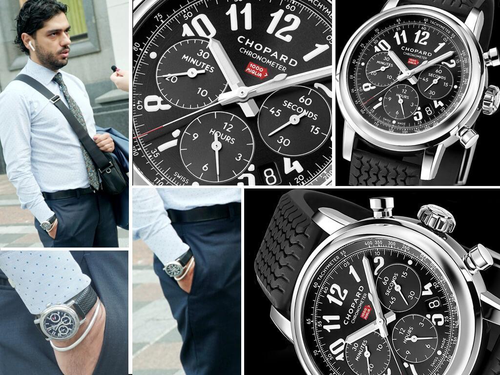 Часы Гео Лероса Chopard Classic Raicing Mille Miglia Chronograph 42mm