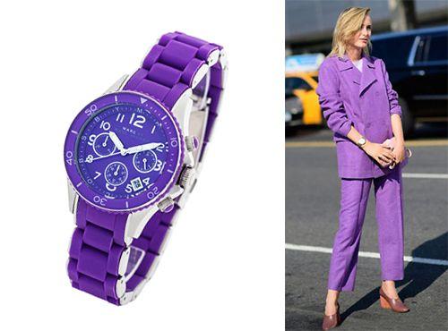 Часы женские Marc Jacobs с фиолетовым циферблатом