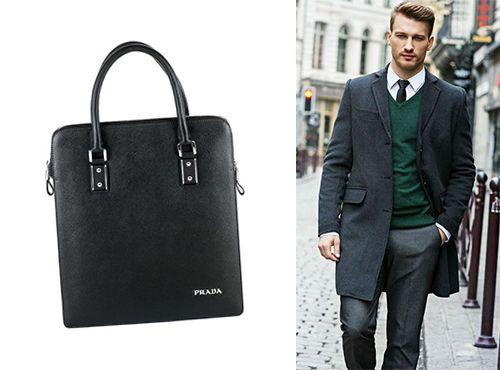 Мужская сумка Prada черного цвета