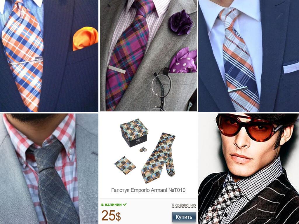 Секрет сочетания галстуков в клетку с клетчатыми рубашками и костюмами - в отличии узоров