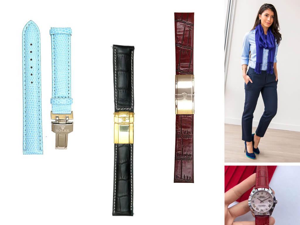 Ремешки из кожи для часов Rolex