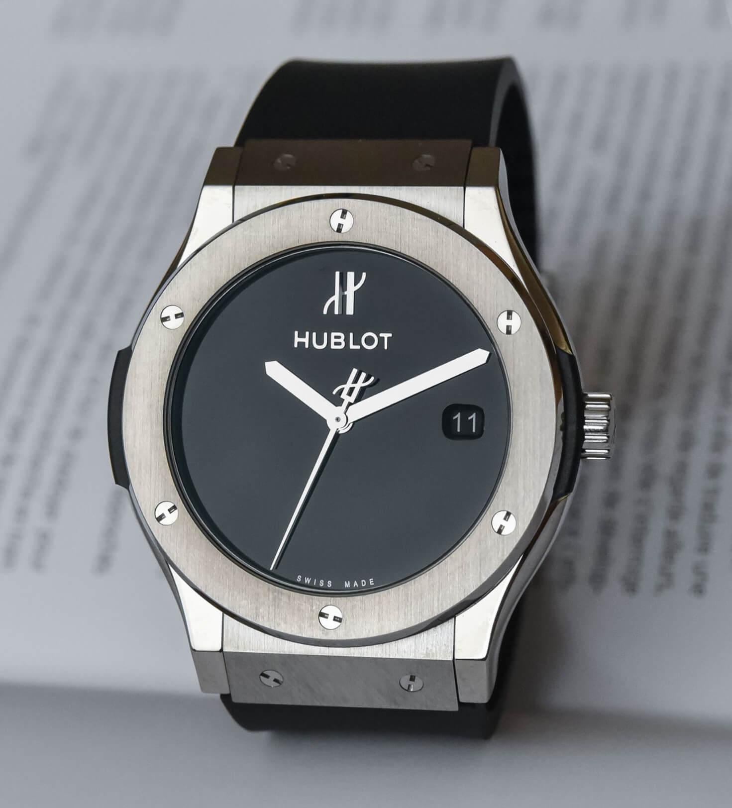 Мужские часы Hublot с круглым циферблатом