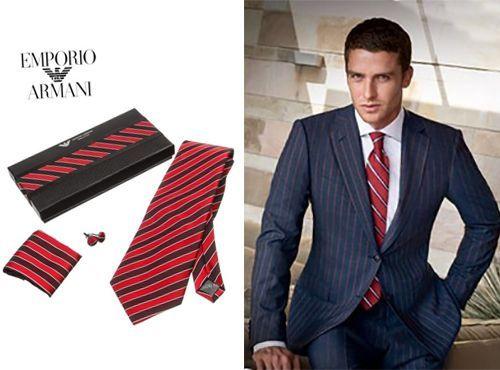 Брендовый галстук Emporio Armani