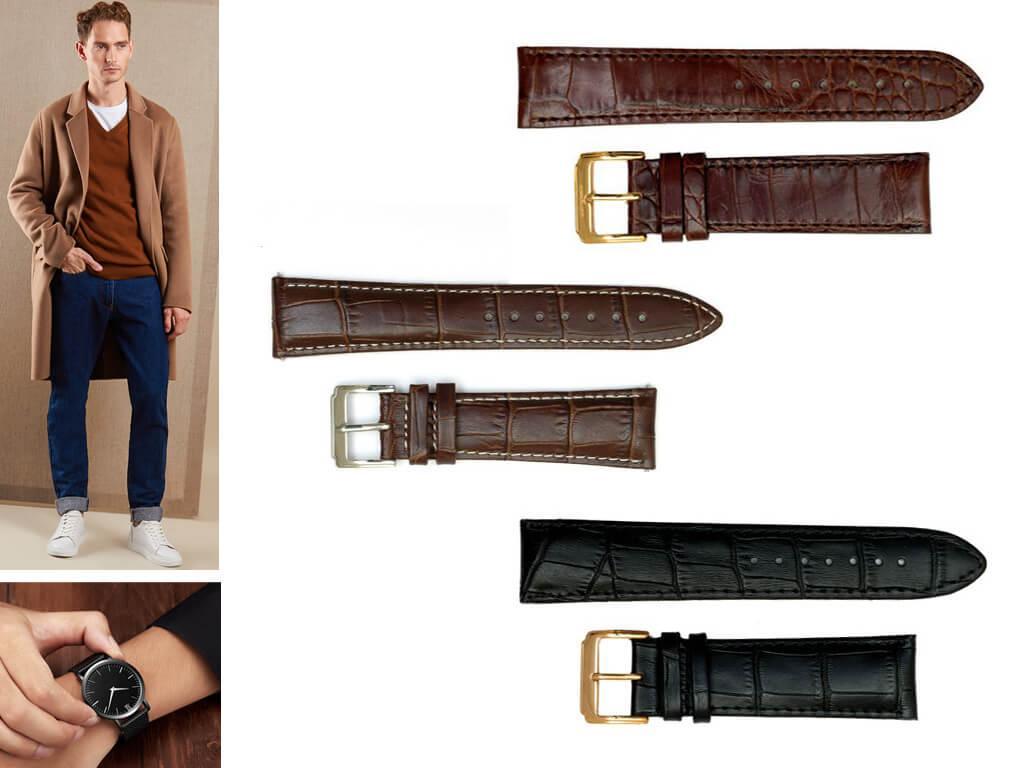 Кожаные ремни на мужские часы Брегет