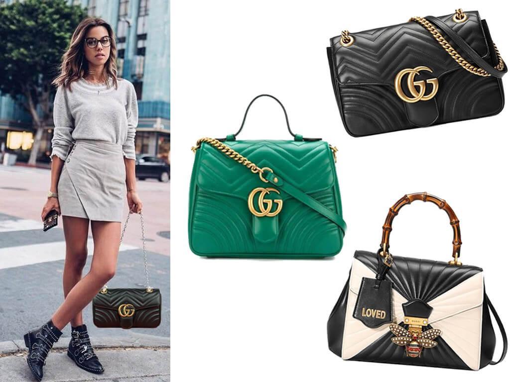 Кожаные женские сумки Gucci