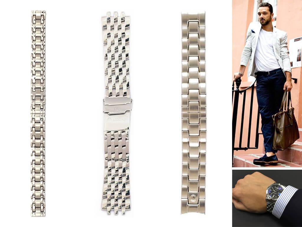 Стальные браслеты на часы для мужчин