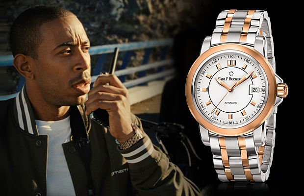 Форсаж-5 (2011): часы Криса Бриджеса (Ludacris) Carl F. Bucherer Patravi AutoDate TwoTone