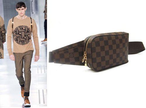 Сумка на пояс мужская от Louis Vuitton