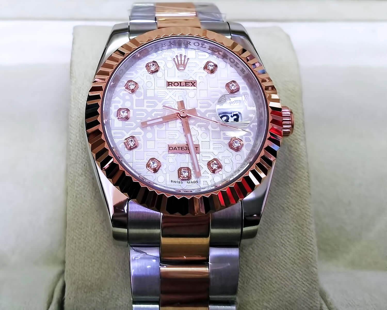 Часовые метки на циферблате реплики Rolex Oyster Perpetual Datejust 36mm