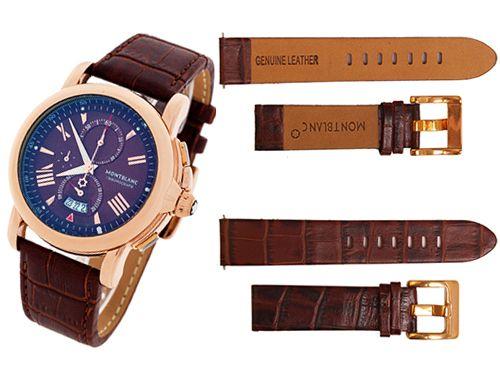 Кожаный ремень для часов Montblanc