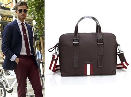 Мужская бордовая сумка от Bally
