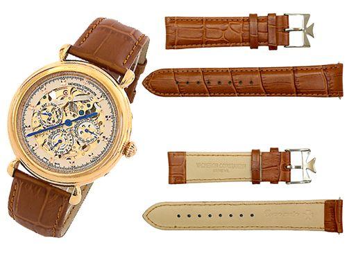 Ремень для часов Vacheron Constantin коричневый