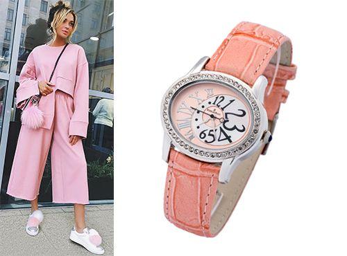 Женские часы Audemars Piguet с розовым ремешком