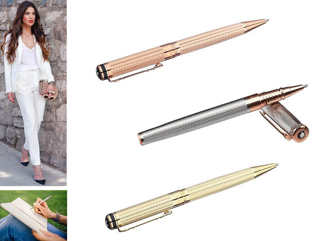 Брендовые ручки золотистого цвета для женщин, девушек