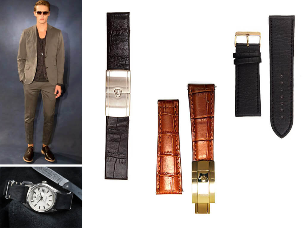 Кожаные ремешки на часы Rolex