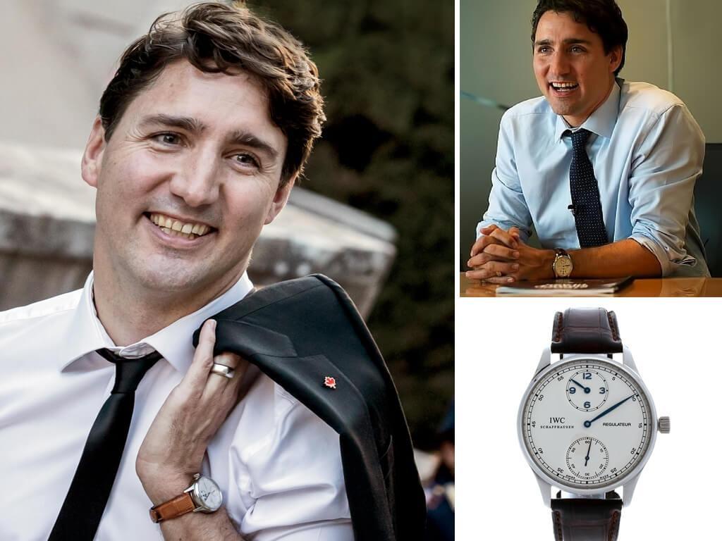 Канадский политик, премьер-министр Джастин Трюдо и его часы IWC Portugieser Regulateu
