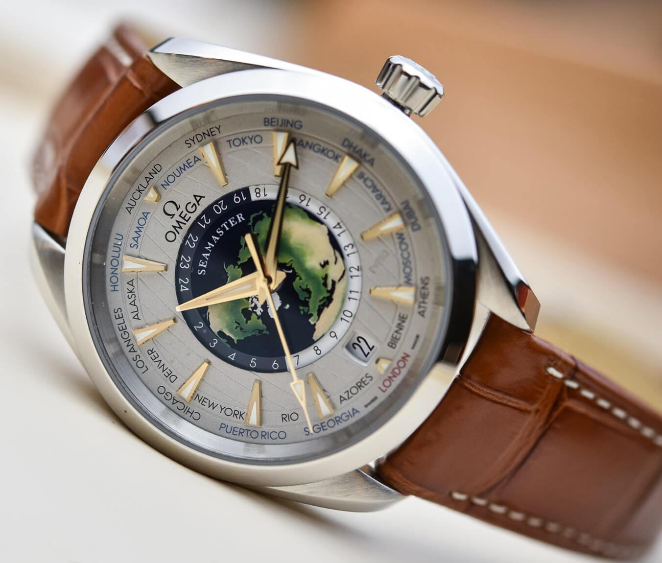 Противоударные часы Omega Seamaster Aqua Terra Worldtimer
