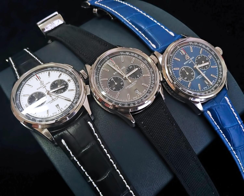 Ремешки в репликах Breitling Premier B01 Chronograph