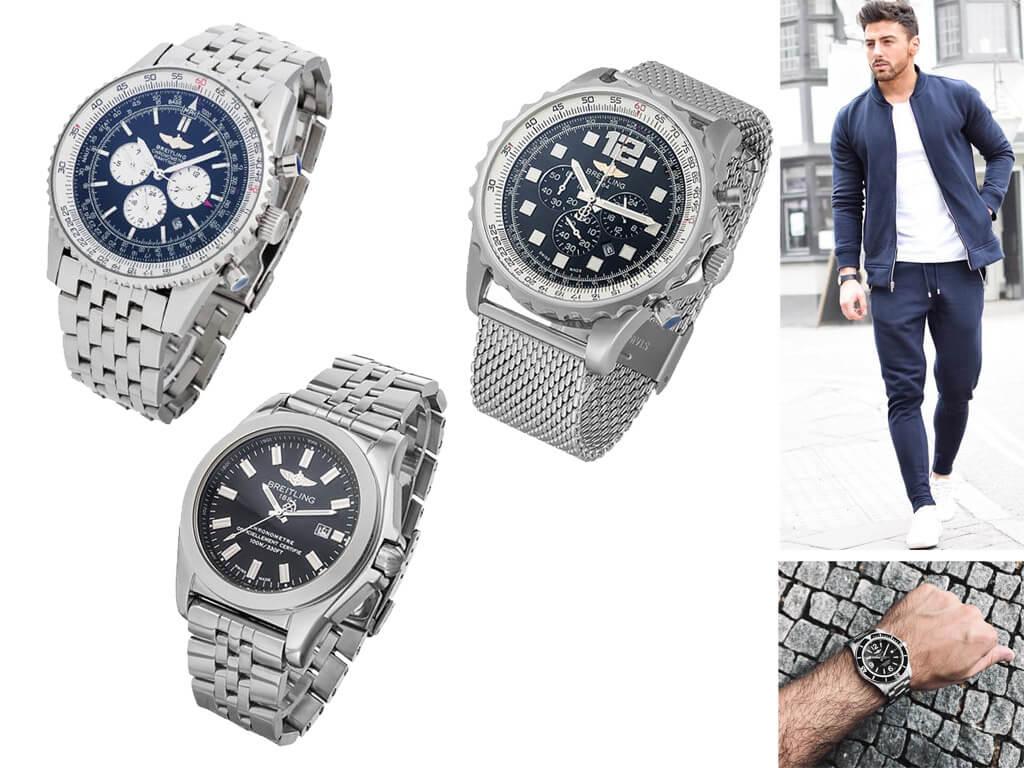 Мужские часы Брайтлинг на браслете