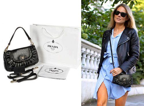 Женская кожаная сумка Prada