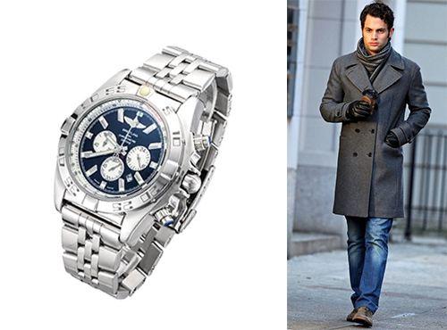 Часы мужские Breitling с серебристым браслетом