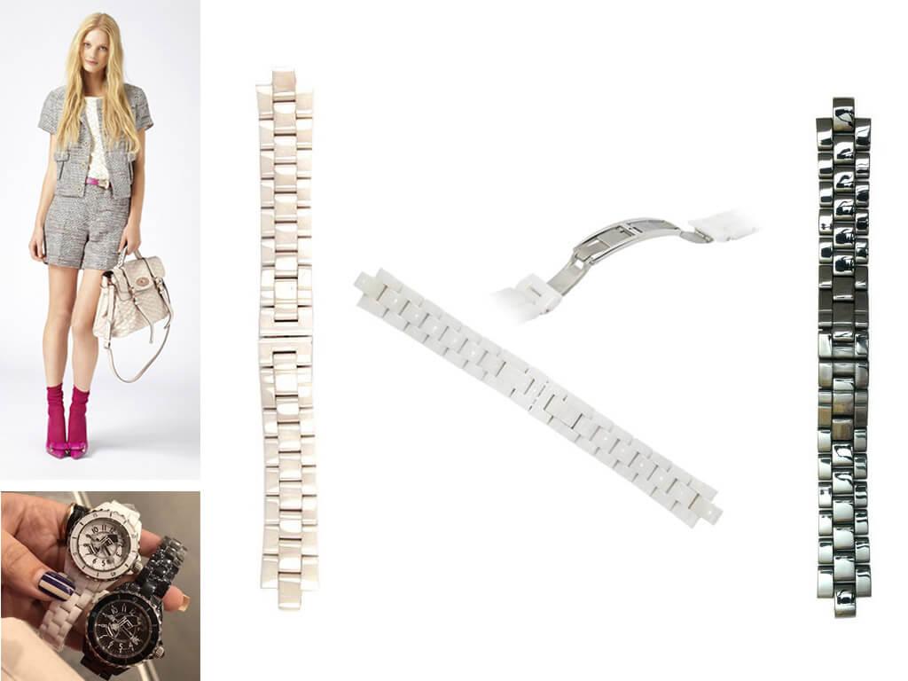 Керамический ремешок на часы Chanel