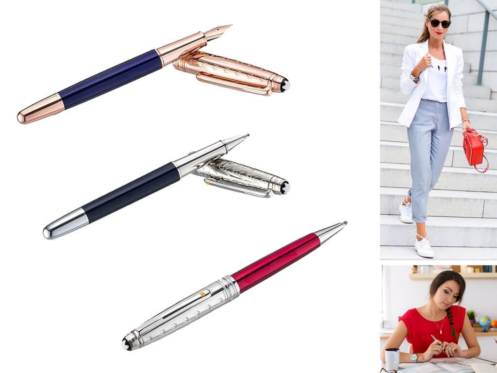Стильные женские ручки Монблан