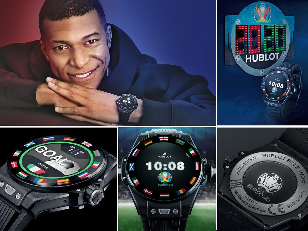 Килиан Мбаппе и часы Евро 2020 Big Bang e UEFA EURO 2020