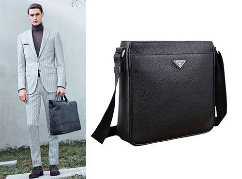 Мужская сумка Prada черная