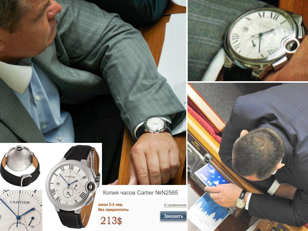 Часы Виталия Борта Картье Баллон Блю Хронограф