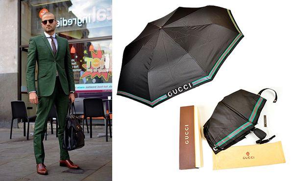 Мужской зонт черного цвета