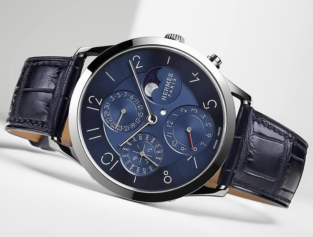 Наручные часы Slim d'Hermès Quantième Perpétuel Platine