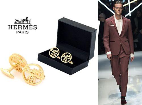 Мужские запонки от Hermes
