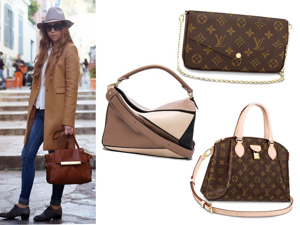 Коричневые женские сумочки из натуральной кожи