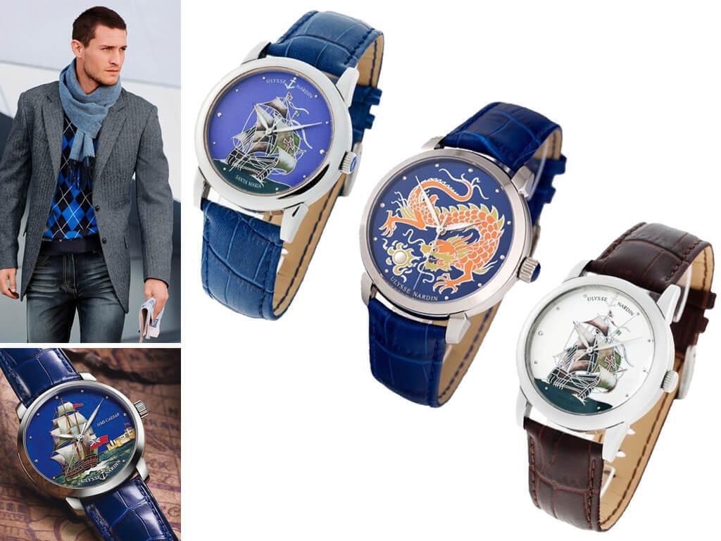 Мужские часы Ulysse Nardin Cloisonne из коллекции Classic