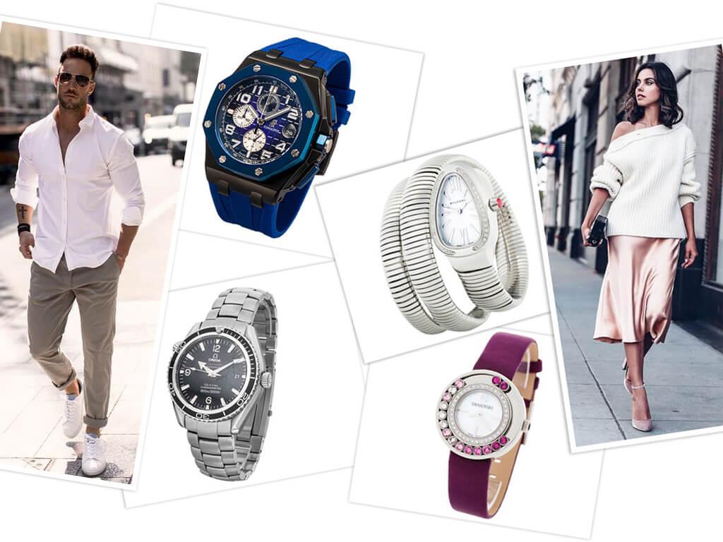 Кварцевые часы женские и мужские