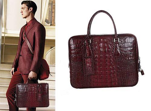 Мужская красная сумка Prada