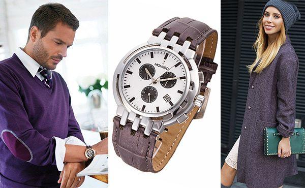 Часы Movado с фиолетовым ремешком