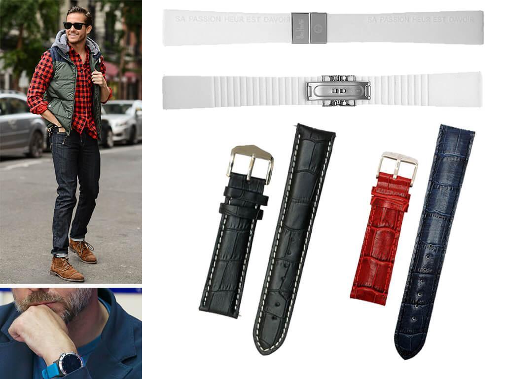 Ремешок для часов Alain Silberstein из каучука будет идеально смотреться со стилем casual