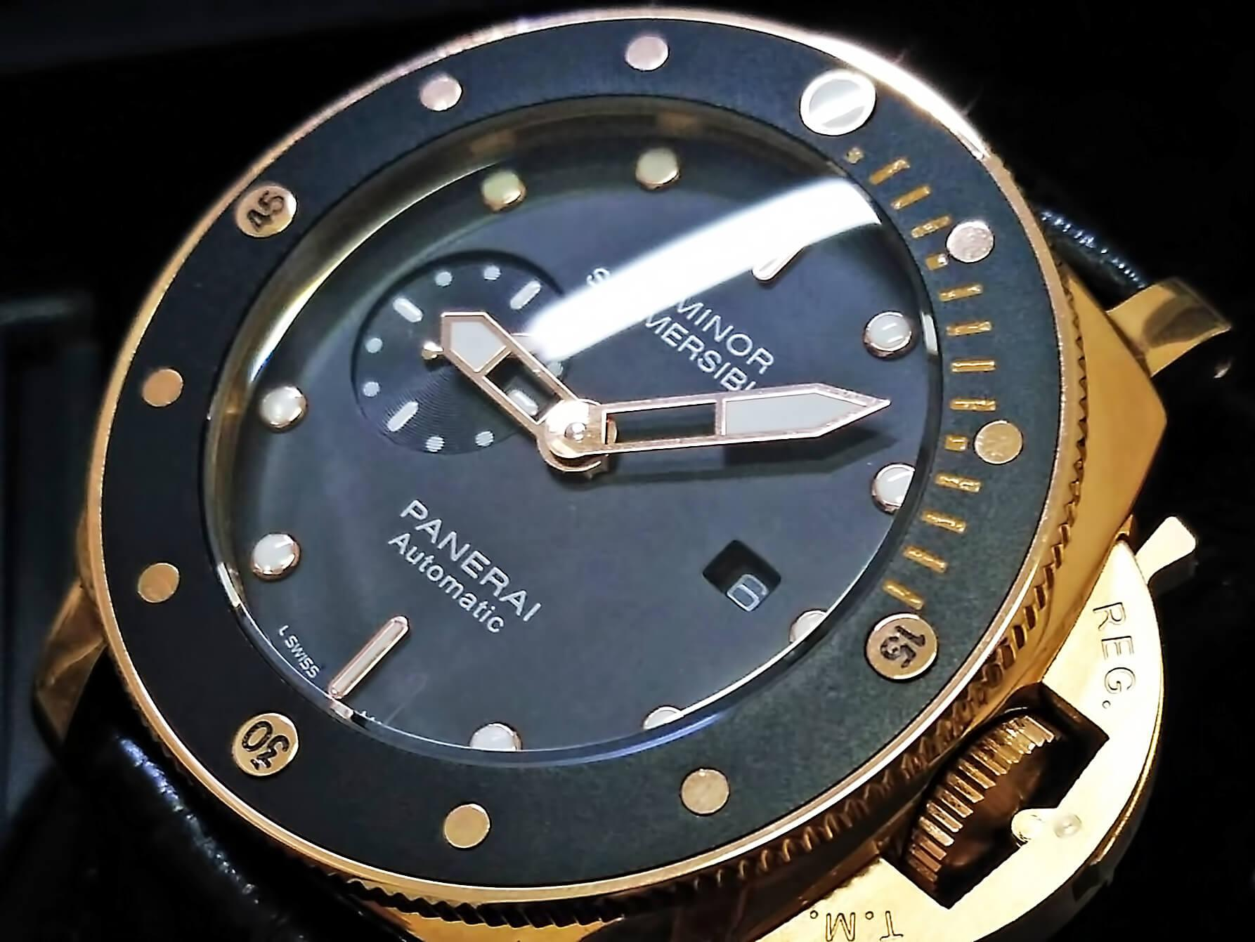 Циферблат реплики Panerai Submersible 1950 3 Days Automatic Oro Rosso