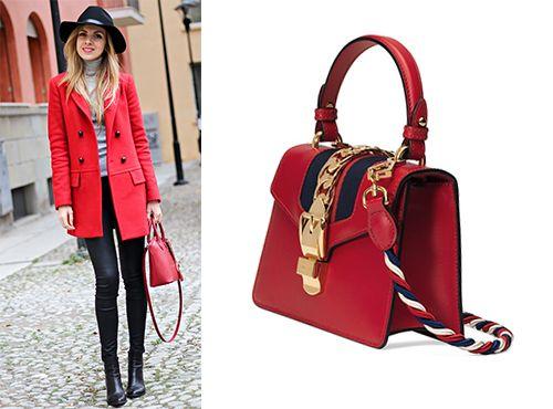 Красная сумка Gucci женская