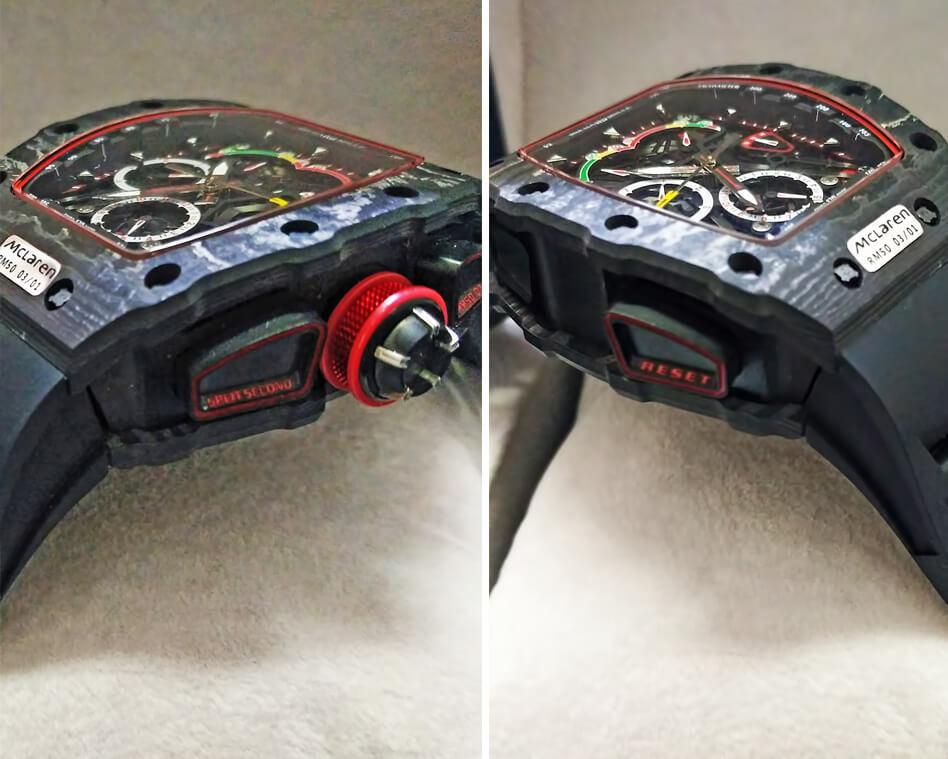 Кнопки управления часами, расположенные на боковых поверхностях корпуса